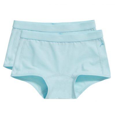 Ten Cate Meisjes Short 2Pack Iced Aqua 7-12Y
