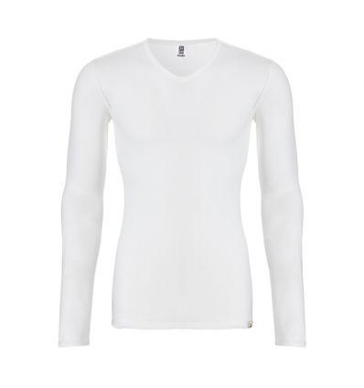 Ten Cate Heren Thermo V-Shirt Longsleeve Sneeuw Wit
