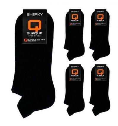 Suaque Sneaker 6Pack 40-46 Sokken Zwart