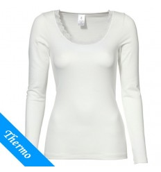 Ten Cate Thermo Damen Lace Shirt Longsleeve Weiss