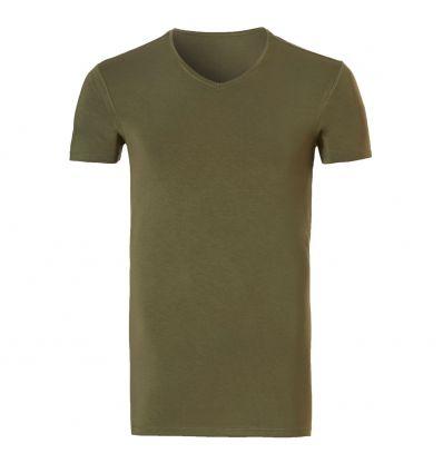 Ten Cate Heren Bamboo V-Shirt Burnt Olive
