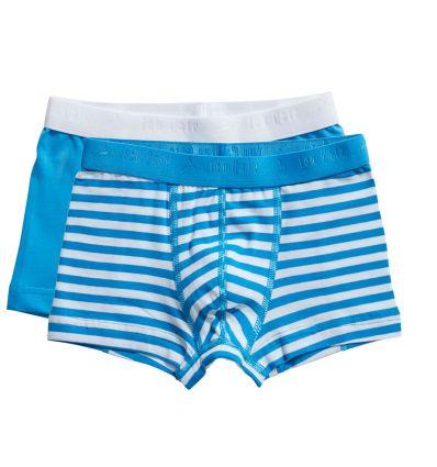 Ten Cate Jongens Boxershort 2Pack Stripe and Diva Blue 2-10Y Boys