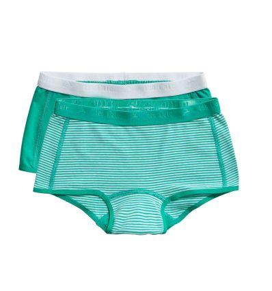 Ten Cate Meisjes Short 2Pack Stripe and Mint 2-10Y Girls