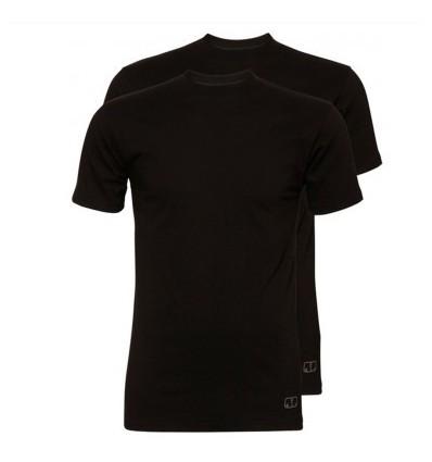 Ten Cate Heren Basic  T-shirt 2pak zwart